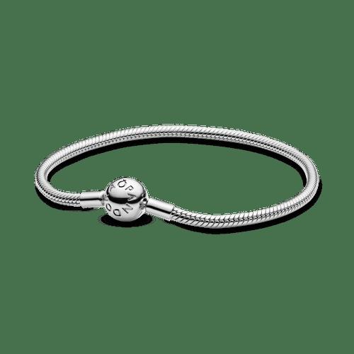 Brazalete cadena de serpiente con cierre redondo Pandora Moments