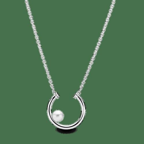 Collar Círculo con perla cultivada de agua dulce