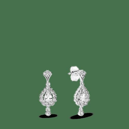 Aros De Plata De Escudo Heráldico Con Zirconitas