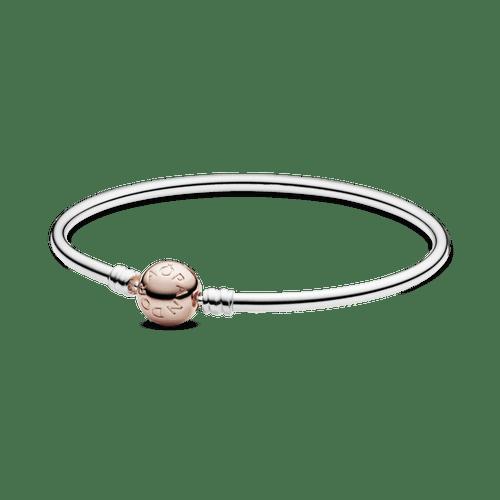 Brazalete rígido broche Pandora Moments en Recubrimiento en Oro Rosa de 14k