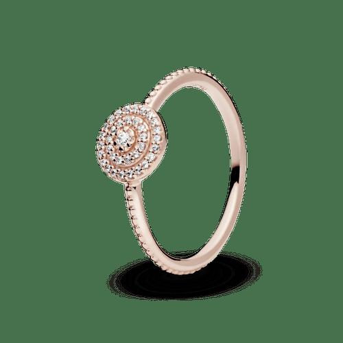 Anillo Brillo elegante Recubrimiento en Oro Rosa de 14k