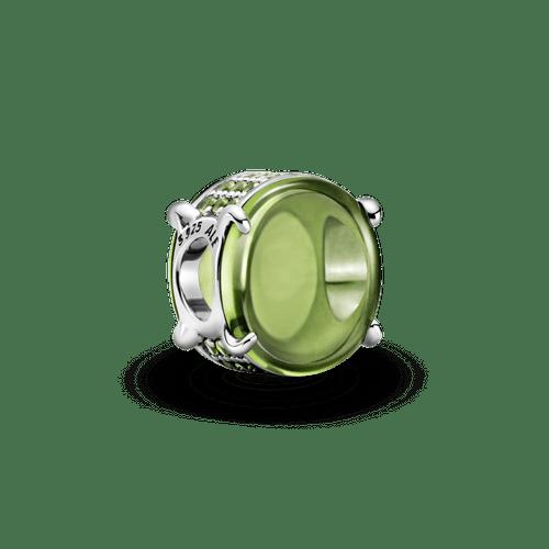 Charm Cabujón oval verde