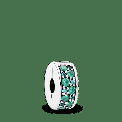 Charm Elegancia Brillante Del Mosaico Cristales Multicolor Y Turquesa