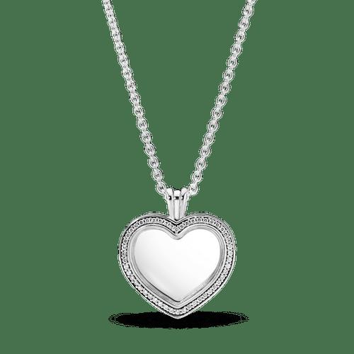 Collar Medallón Corazón Pandora Centellante