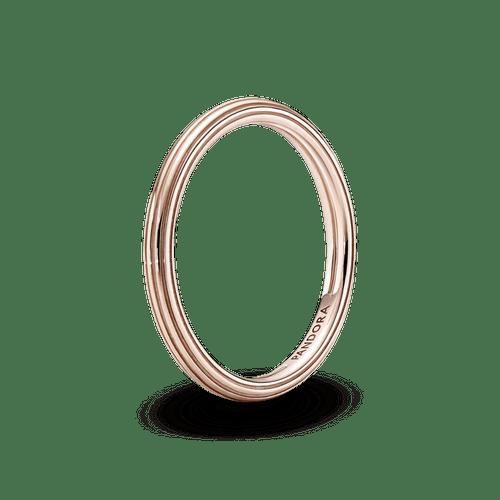 Anillo Recubrimiento en Oro Rosa De 14K Pandora Me