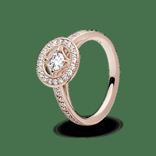 Anillo Círculo clásico Recubrimiento en Oro Rosa de 14k